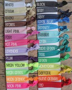 5 Elastic Hair Ties - You Pick Colors - No Tug FOE Elastic on Etsy, $3.75