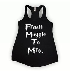 From Muggle To Mrs Harry Potter tank top by wantedtees on Etsy