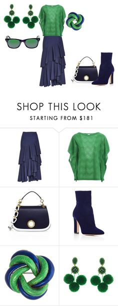 """""""Untitled #205"""" by rosshandmadecrafts ❤ liked on Polyvore featuring Alice + Olivia, M Missoni, Michael Kors, Gianvito Rossi, Oscar de la Renta and Ray-Ban"""