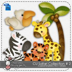 CU Safari Collection # 2 [CU_SCT2] : CU Digitals, Commercial Use / CU Digital Scrapbooking elements, templates, overlays, actions, scripts and tools