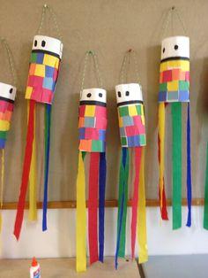 Construction Paper Japanese Kites / Exploring Art