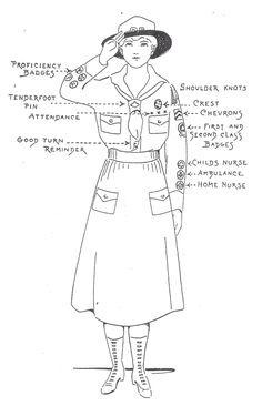 Girl Scout Khaki Uniforms