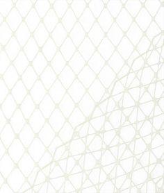 Ivory+Russian+Netting+Fabric