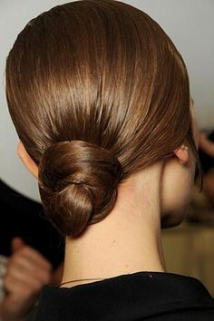 Perfectly polished bun. A timeless sleek & elegant style.
