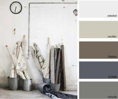 Basement Neutrals - beige, blue brown pallette