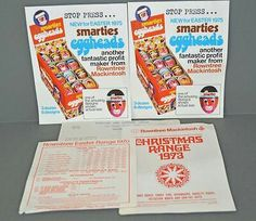 Brand new for 1975 Smarties Eggheads!