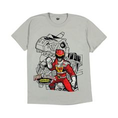 Boys' Power Rangers Dino Charge Graphic Tee - Silver S, Boy's, Size: Large