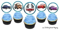 6 Best Images of Disney Cars Cupcake Toppers Free Printables - Disney Cars Cupcake Topper Printable, Disney Cars Theme Cupcake Toppers Printable and Free Disney Bottle Cap Image Sheets Disney Cars Cupcakes, Disney Cars Party, Disney Cars Birthday, 2nd Birthday Party Themes, Cars Birthday Parties, Birthday Ideas, 3rd Birthday, Cupcake Toppers Free, Car Themed Parties