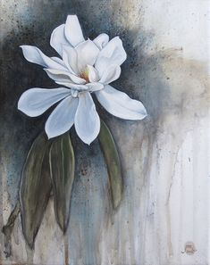 Magnolia 2 by Jenny Moed-Korpela. Acrylic and oil on canvas. jennymoedkorpela.com