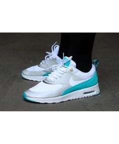 pretty nice 7adad 8df22 Chaussure Nike Air Max Thea Blanche Gris Bleu Argent Nike Shox Shoes, New  Jordans Shoes