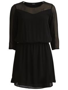 ACTOR - 3/4 SLEEVED DRESS, Black, main