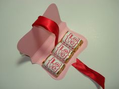 Valentine Top Note Sweet Treat Holder