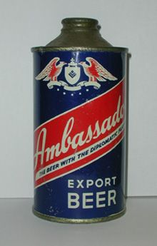 Ambassador Beer....my Uncle had this can in his collection!