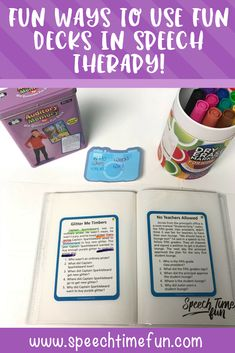 fun ways to use super duper fun decks in speech therapy in a pinch - quick ideas for working on answering questions, text evidence, sequencing, and more!