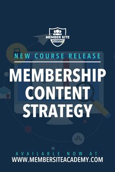 Heads up guys, we've just released a BRAND NEW course - Creating Your Membership Content Strategy - exclusively for members of the Member Site Academy.  Creating a successful membership requires more than just throwing together any old content and putting it behind a paywall. You need an effective content strategy.  In this course, you'll learn:  * How to decide what type of content to offer in your membership and the best way to structure and run your site accordingly * Techniques for…