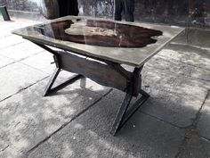 Bog oak resin table 1