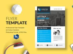 Business Flyer Template designed by BdThemes. Corporate Style, Business Flyer Templates, All Fonts, Show And Tell, Minimal Design, Photoshop, Things To Come, Graphics, Minimalist Design