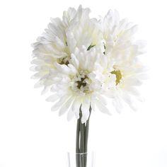 Click Here For A Larger View Daisy Bouquet Wedding, Gerbera Daisy Bouquet, Floral Wedding, Hurricane Centerpiece, Centerpieces, Floral Supplies, Green Plants, Winter White, Craft Supplies