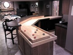 Genial This Shuffleboard Bar Was Built With Angles. The Bank Shots Make A More  Challenging Game