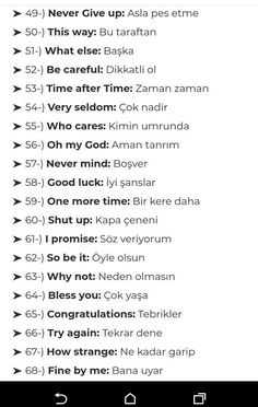 English Vocabulary Words, Grammar And Vocabulary, English Words, English Grammar, Teaching English, Learn English, English Language, Turkish Lessons, Learn Turkish Language