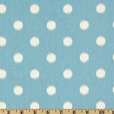 Ikat dots artic blue/natural  - tissus Premier Prints