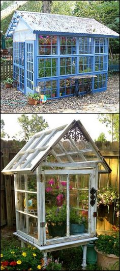 This greenhouse project is one of the most inexpensive builds we've come across! http://diyprojects.ideas2live4.com/2016/05/24/greenhouse-from-old-windows/ As you can see, the frames and glass in these salvaged windows make perfect building blocks for a greenhouse. You just need to build the frame on which the windows will be installed. Now you can have a greenhouse in your yard without spending a fortune!