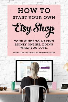 on Etsy: A guide to starting your own shop How to Start your own Etsy Shop. 10 Steps to turning your hobby into a business.How to Start your own Etsy Shop. 10 Steps to turning your hobby into a business. Etsy Business, Craft Business, Creative Business, Business Tips, Business Money, Good Business Ideas, Business Opportunities, Business Planning, Startup Business Ideas