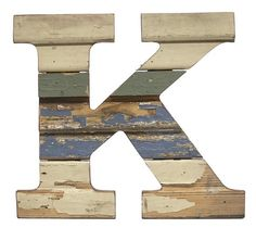 Recycled Wood Letter K - Paul Michael Company  Recycled Wood Letter S These Paul Michael Company Exclusive pieces are designed and made by hand in our Dermott, AR woodshop