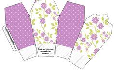 Caixa China in Box Floral Lilás: