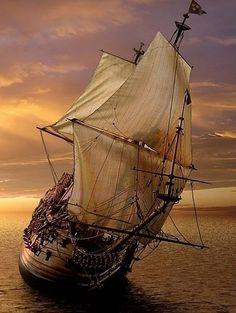 Matt's ship. Matt and Ahisha sailed away to distant shores, exploring the high seas.