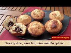 ▶ Super recette rapide de muffins bio sans laitage ni gluten et sans matière grasse ajoutée - YouTube