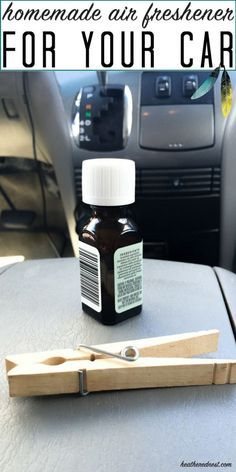 Popular, SUPER QUICK, and all natural DIY car air freshener! What an inexpensive hack! I LOVE THIS!!
