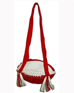 Red & White Football Shoulder Bag.  Buy it @ ReadyGolf.com