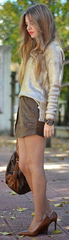 #Golden #Sweater by Mi Aventura Con La Moda