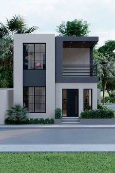 Minimal House Design, Modern Small House Design, Modern Minimalist House, Small Modern Home, Modern Design, Simple House Design, Small House Exteriors, Modern Exterior House Designs, Modern House Plans
