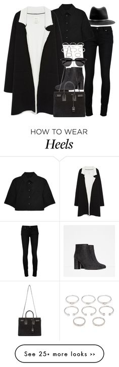 """Untitled #7089"" by nikka-phillips on Polyvore featuring rag & bone, Paige Denim, Alexander Wang, Zara, Yves Saint Laurent and Forever 21"