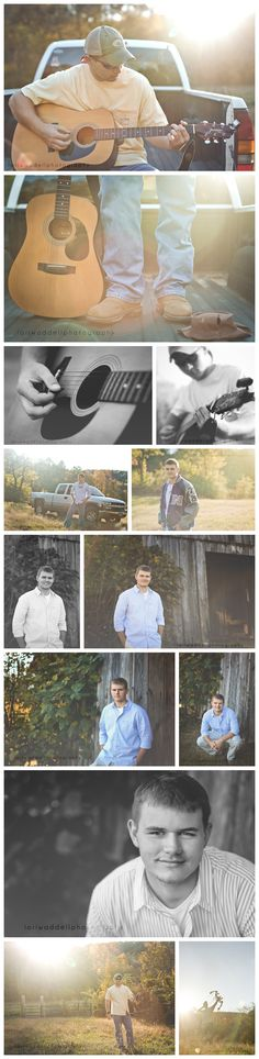Senior Guy Photos. I really want to do a guy session like this. I love guitars!!!