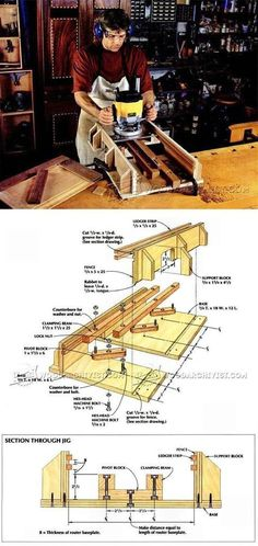 Self Centering Mortising Jig - Joinery Tips, Jigs and Techniques | WoodArchivist.com