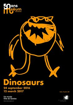 Dinosaurs | Museum of Natural History Geneva Posters Drawn by Children | Award-winning Illustration for Advertising | D&AD