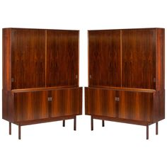 Two Rosewood Bookcases by Arne Vodder for Sibast | See more antique and modern Bookcases at https://www.1stdibs.com/furniture/storage-case-pieces/bookcases