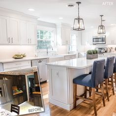 Jenny D'Agostino (JKB Kitchen and Bath, Inc.) designed this airy, open-concept space using 650 Painted Linen and loads of light. Can you believe the transformation? #waypointlivingspaces #kitchencabinets  #kitchenremodel #paintedlinen @jkbkitchenandbath.com Linen Cabinet, Cabinet Doors, Painting Cabinets, Open Concept, Kitchen And Bath, Kitchen Remodel, Living Spaces, Kitchen Cabinets, Table