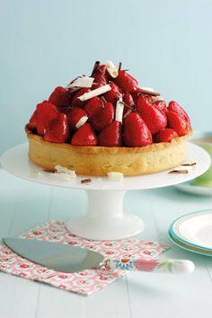 Chocolate Strawberry Tart Strawberry Jelly, Strawberry Recipes, Tart Recipes, Dessert Recipes, Desserts, Dessert Tarts, Chocolate Strawberries, Melting Chocolate, Chocolate Tarts