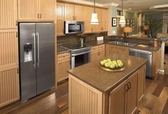 Kitchen suite with matching stainless steel appliances. #electrolux