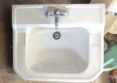 Vintage Antique Briggs Wall Mount Bathroom Sink W Legs Towel Bar - Vintage bathroom sinks for sale