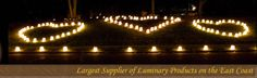 Heart shaped Luminaries -- have my first dance inside of a heart shaped luminary