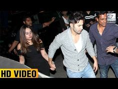 Varun Dhawan publicly holded his girlfriend Natasha Dalal's hand when the duo attended Shahid Kapoor's pre-birthday bash. Take a look.