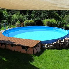 Intex frame pool in erde eingelassen wouldn 39 t even mind something like this reasonably priced - Stahlwandpool in erde einlassen ...