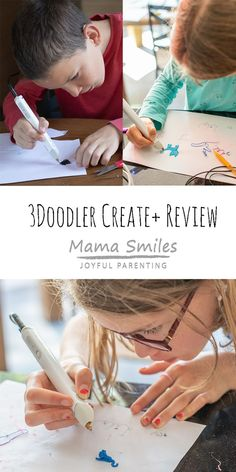 Review of the brand new 3Doodler Create+ 3D Printing Pen. If you're looking for a 3D printing pen, you'll love the control and ease of use this one offers. #Create+ #3dprinting @3doodler Educational Activities For Kids, Indoor Activities For Kids, Science For Kids, Stem Activities, Happy Mom, Happy Kids, Stem For Kids, Art For Kids, Easy Arts And Crafts