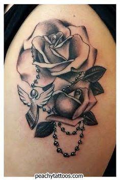 white pearl tattoo