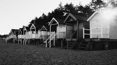 Beach huts. Wells, Norfolk